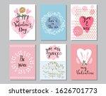 happy valentine's day set cards.... | Shutterstock .eps vector #1626701773