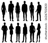 vector silhouettes of  men and... | Shutterstock .eps vector #1626702820