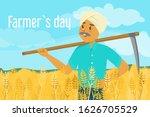farmer day vector illustration. ... | Shutterstock .eps vector #1626705529