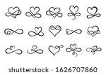 infinity love flourish. hand... | Shutterstock . vector #1626707860