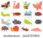 cartoon bugs. baby insect ... | Shutterstock . vector #1626707893