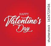 happy valentine's day hand...   Shutterstock .eps vector #1626723436