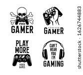 video games related t shirt set.... | Shutterstock .eps vector #1626744883