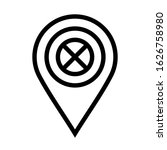 forbidden location icon on...