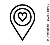 favourite heart location icon...