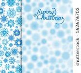 christmas vector background | Shutterstock .eps vector #162676703