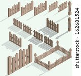 vector isometric fence set ... | Shutterstock .eps vector #162681524