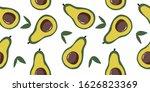 ripe  juicy avacado in a cut... | Shutterstock .eps vector #1626823369