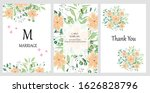 hand drawn vector cards with... | Shutterstock .eps vector #1626828796