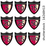 shield with crown and numbers | Shutterstock . vector #16268413