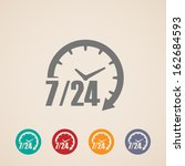 open 24 hours a day and 7 days... | Shutterstock .eps vector #162684593
