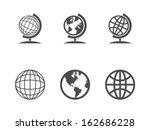 globe icons. vector... | Shutterstock .eps vector #162686228