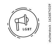 megaphone  lgbt icon. simple...