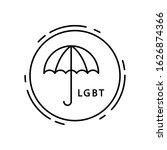 umbrella  lgbt icon. simple...