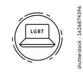 notebook  lgbt icon. simple...
