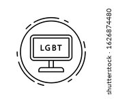computer  lgbt icon. simple...