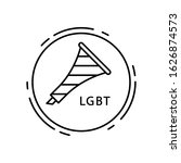 horn  lgbt icon. simple line ...