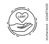 heart  hand  lgbt icon. simple...