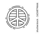 peace  lgbt icon. simple line ...