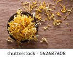 Closeup On Dried Marigold...