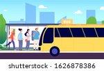 Bus Stop. City Transport ...