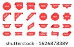 new arrival. red product labels ...   Shutterstock .eps vector #1626878389
