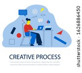 creative woman in work progress....