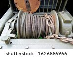 Close Up Of Old Winch In Front...