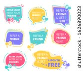 refer friend badges. abstract...   Shutterstock .eps vector #1626890023