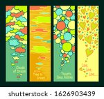set of abstract hand drawn... | Shutterstock .eps vector #1626903439