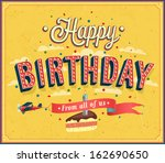 happy birthday typographic... | Shutterstock .eps vector #162690650