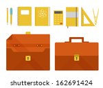 set of briefcase and school... | Shutterstock .eps vector #162691424