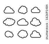 cloud icon set. vector | Shutterstock .eps vector #162691484