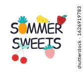 funny quote with summer fruits...   Shutterstock .eps vector #1626919783