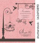 wedding invitation card | Shutterstock .eps vector #162693890