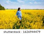 a beautiful pregnant girl walks ...   Shutterstock . vector #1626944479