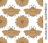 Seamless Pattern In Monochrome...