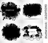 set of grunge background | Shutterstock .eps vector #162695090