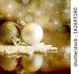 christmas background with... | Shutterstock . vector #162695180