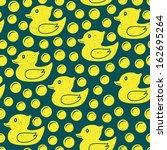 rubber duck seamless pattern  | Shutterstock .eps vector #162695264