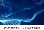dot blue wave light screen... | Shutterstock . vector #1626955006