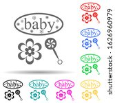 baby and toys inscription multi ...