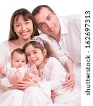 beautiful happy family. father  ... | Shutterstock . vector #162697313