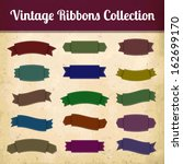 collection of vintage colorful... | Shutterstock .eps vector #162699170