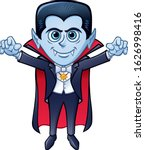 cartoon of a smiling vampire... | Shutterstock .eps vector #1626998416