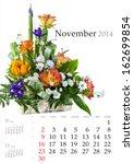 2014 Calendar. November. Brigh...