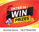 enter to win prize word concept ... | Shutterstock .eps vector #1627006330