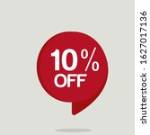 special offer sale red tag....   Shutterstock .eps vector #1627017136