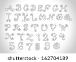 vector real hand drawn letters... | Shutterstock .eps vector #162704189