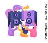 disco party. people dancing in...   Shutterstock .eps vector #1627051159